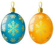 orange clipart christmas ornaments min