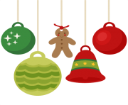 christmas ornaments flat design png min