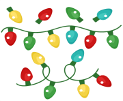 cartoon christmas lights png clip art