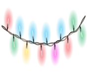 Christmas Decoration Lights PNG Picture