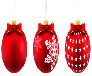 Red Christmas Balls PNG