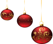 Transparent Red Christmas Ball PNG