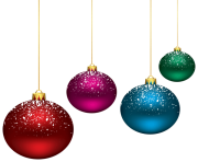 Christmas Snowy Balls PNG