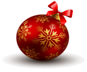 Transparent Red Christmas Ball PNG Clipart