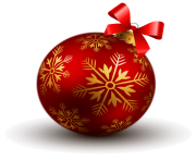 hd christmas ball ribbon png image