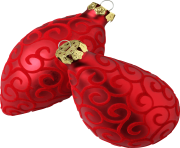 christmas ball red for tree png image