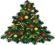 magic christmas fir tree png image