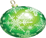 christmas ball toy flake green png image