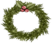 cool christmas wreath png image