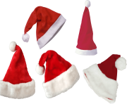 real red christmas hats=png image