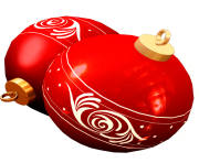 two red christmas ball toy png image