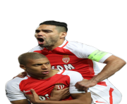 radamel falcao and kylian mbappe Png