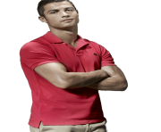 ronaldo png casual red tshirt