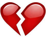 Broken Red Heart Emoji Png