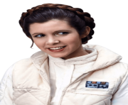 Princess Leia Carrie Fisher Smiling transparent PNG