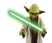 Yoda Lightsaber Star Wars transparent PNG