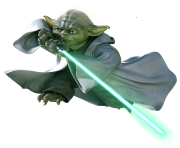 Yoda Flying Star Wars transparent PNG