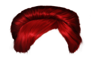 red women hair png image