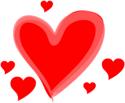 drawn love heart png transparent