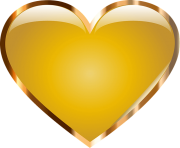 Gold Heart Png Transparent