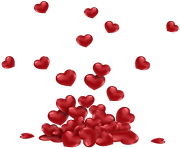 Bunch of Hearts PNG Picture