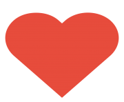 Dark Red Heart Transparent Background