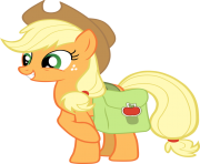 applejack with saddlebag my little pony png