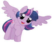 Alicorn Twilight Sparkle by artist spacekitty my little pony png