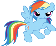 Rainbow Dash flying my little pony png