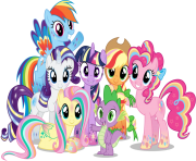 my little pony clipart group