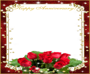 Wedding frame png with flower love