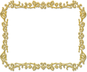 Rectangular Gold Photo Frame PNG Transparent