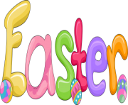 Easter Word Art png