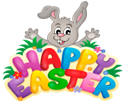 happy easter png rabbit