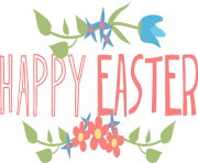 Happy Easter text png