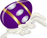 Bunny and Egg PNG Clip Art Image