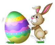 Easter Bunny with Egg Transparent PNG Clipart