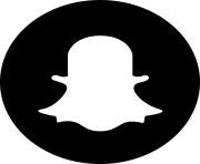black snapchat circled logo png
