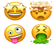 new cool emoji ios png