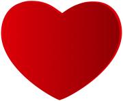 Large Red Heart PNG Clipart