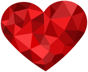 Red Mosaic Heart PNG Clipart