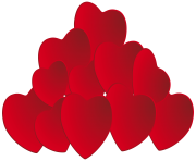 Pile of Hearts PNG Clipart