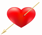 Red Heart with Arrow PNG Clipart