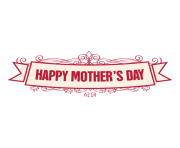 mothers day ribbon badge 2 by vexels