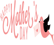 happy Mothers Day letter bird png