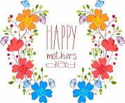 mothers day colorful flower design