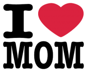 i love mom mothers day logo png