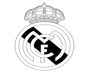 real madrid cf logo black and white
