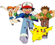 Ash and Friends Group Anime Pokemon png