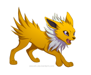 jolteon by akeahi pokemon png